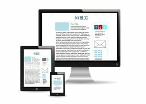 give your website responsive design illustrated with images of imac ipad and smartphone