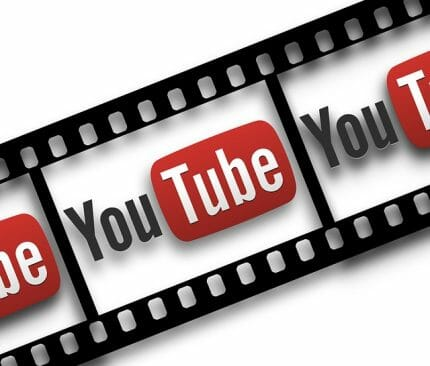 youtube logo as image on old style camera film