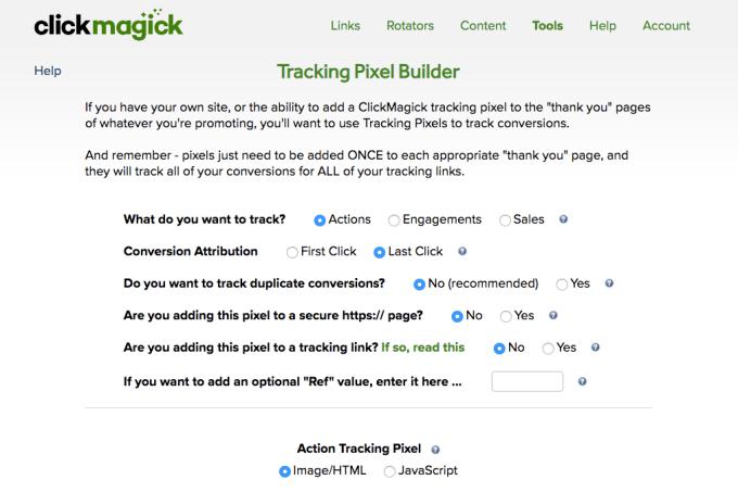 tracking pixels screenshot