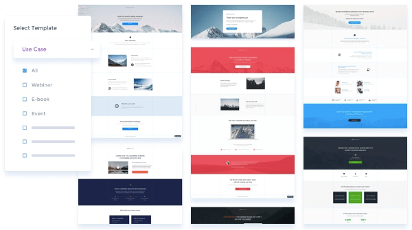 instapage landing page template examples