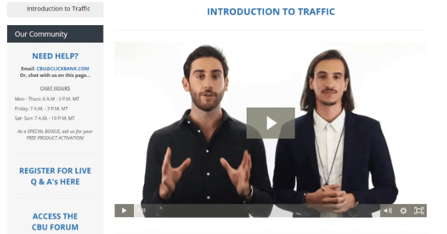cbu2.0 traffic section introduction video screenshot