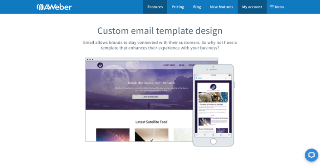 aweber email template design