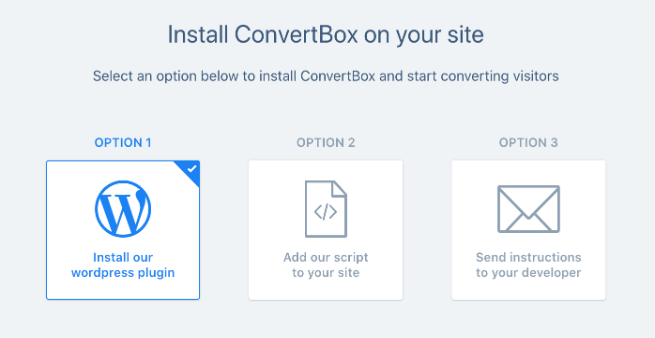 convertbox installation options