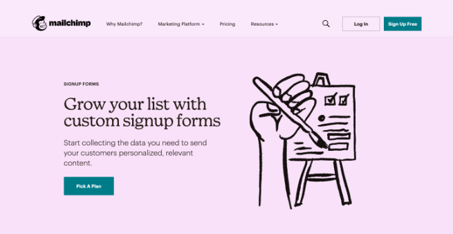 mailchimp sign-up forms