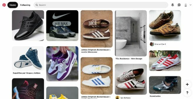 pinterest home page feed example
