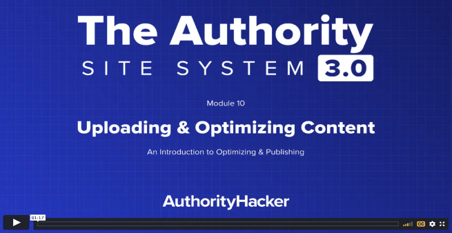 the authority site system module 10 intro
