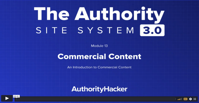 the authority site system module 13 intro