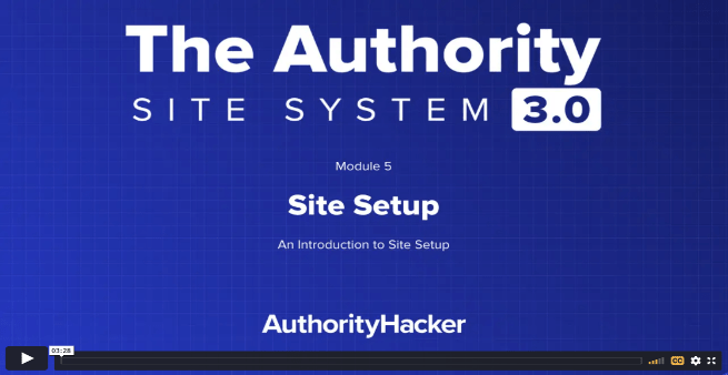 the authority site system module 5 intro