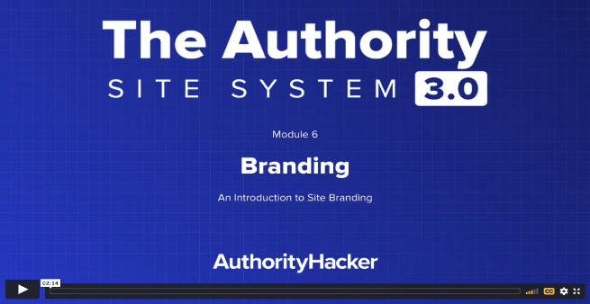 the authority site system module 6 intro