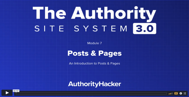 the authority site system module 7 intro