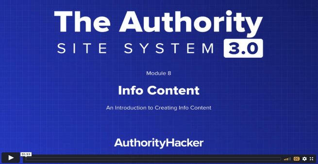the authority site system module 8 intro