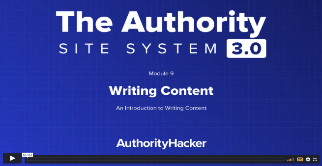 the authority site system module 9 intro