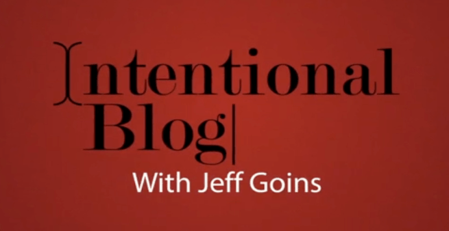 intentional blog course
