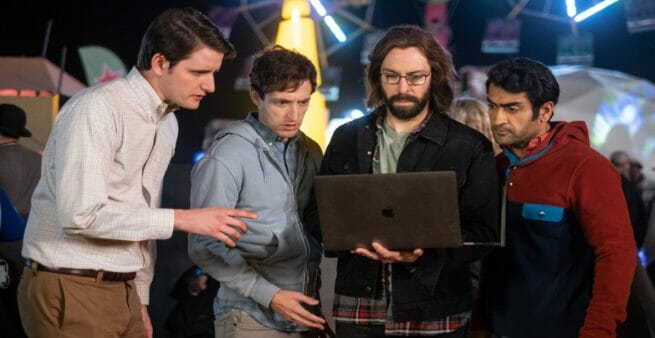 still from fictional business tv show silicon valley