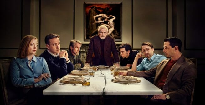 still from tv show succession